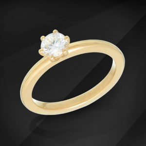 Diamond Solitaire Ring - MIKU Diamonds