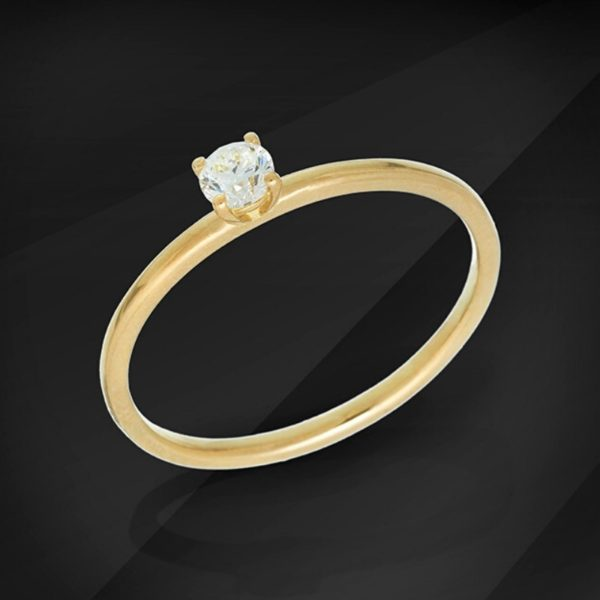 Apollo Diamond solitaire ring