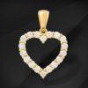 Diamant hjerte i guld - MIKU Diamonds